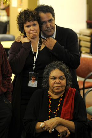 Aunty Bev and her family listening to the apology | The apology [Episode 1 | 2008 : Laura]