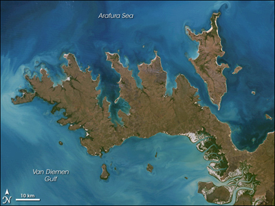 The Cobourg Peninsula is located on the north-west tip of Arnhem Land in the Northern Territory.