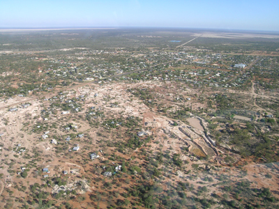 Aerial view of Lightning Ridge
