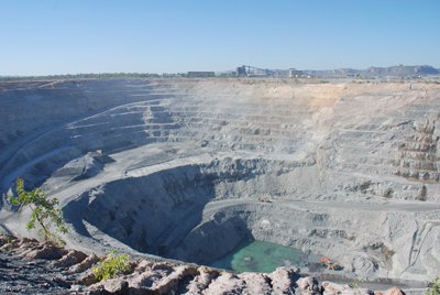 The Ranger uranium mine operates within Kakadu National Park.
