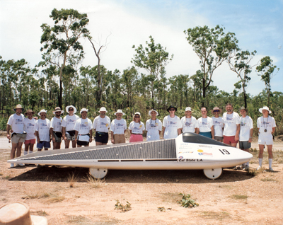 The Solar Eagle built by California State University students at the 1990 World Solar Challenge